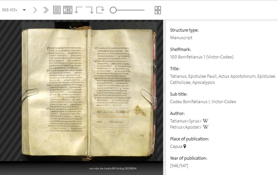 Codex Fuldensis ( 1 ) Folio 869.432v-434v