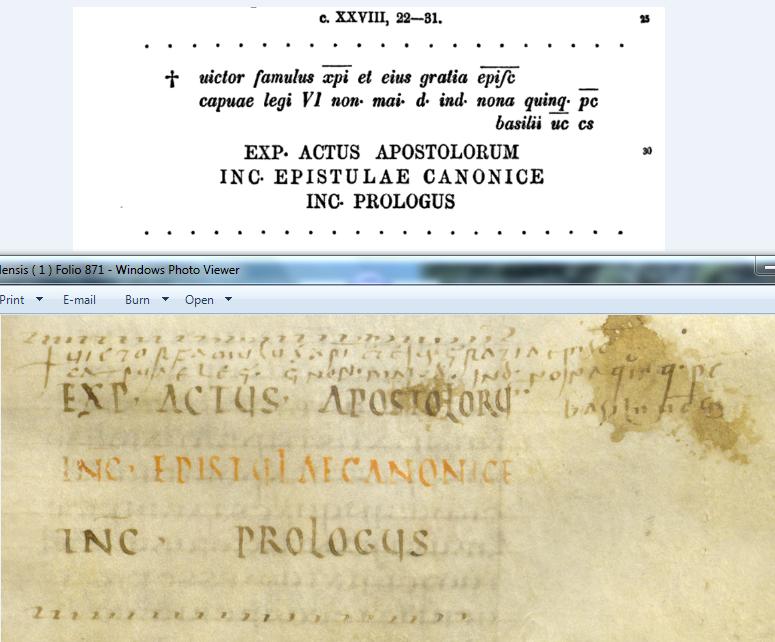 Codex Fuldensis ( 1a ) Folio 871