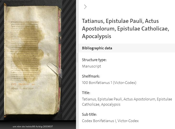 Codex Fuldensis ( 5 ) Folio 871.434v